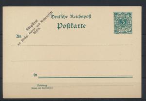 Reich Ganzsache Zudruck Magistrat der königlichen Haupt -u. Residenzstadt Berlin