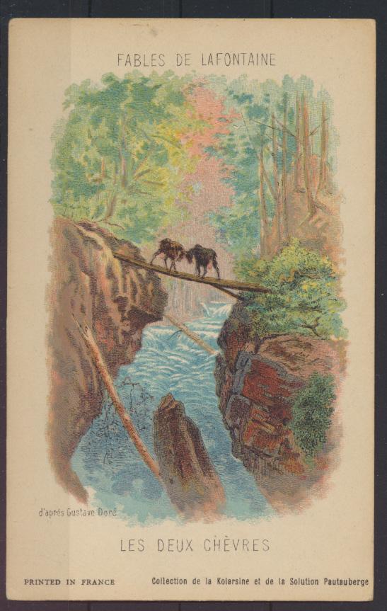 Frankreich Litographie Illustration Fables de Lafotaine von Gustave DORE 3 Stück 0