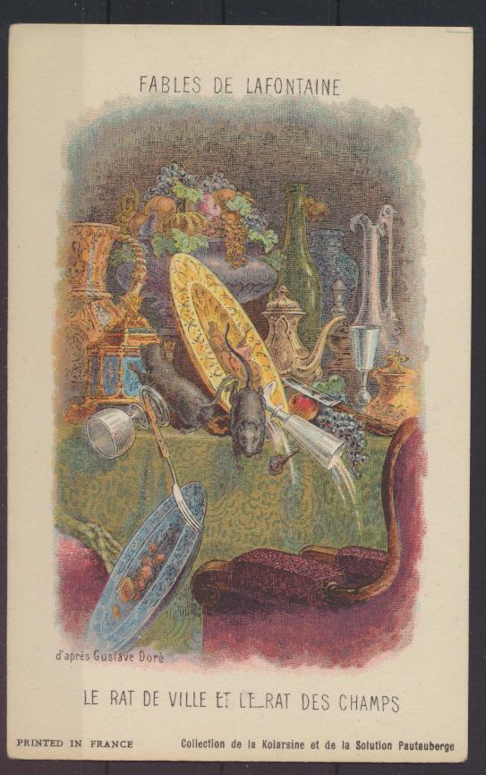 Frankreich Litographie Illustration Fables de Lafotaine von Gustave DORE 3 Stück 1