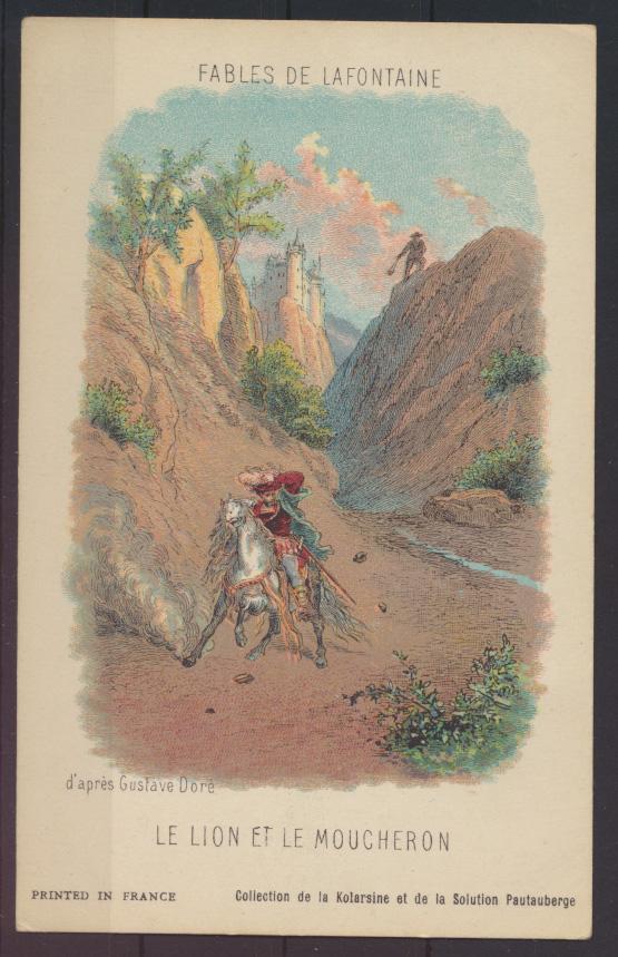 Frankreich Litographie Illustration Fables de Lafotaine von Gustave DORE 3 Stück 2