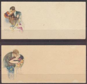 Italien 4 wunderschöne Litho Künstler Ansichtskarten im Format 13,2x6cm