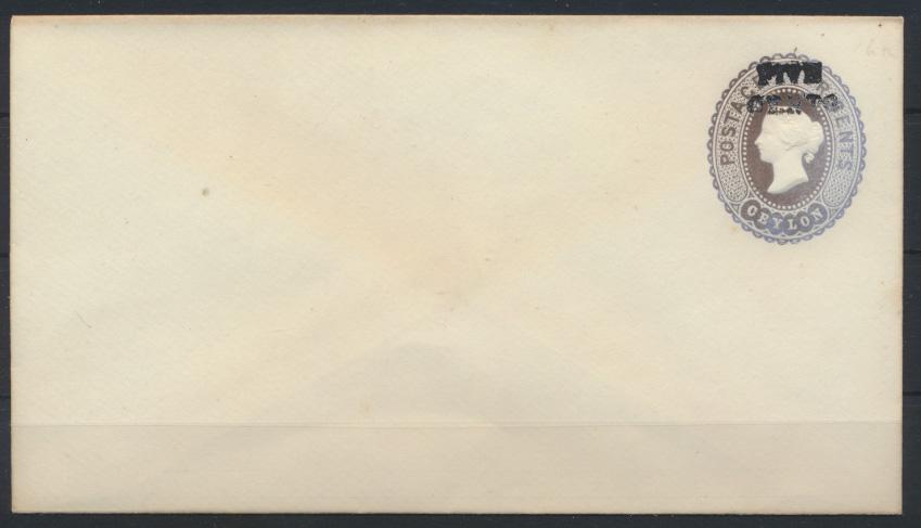 Sri Lanka Ceylon Ganzsache Umschlag 16 Queen Victoria Aufdruck 5 c 1888 0