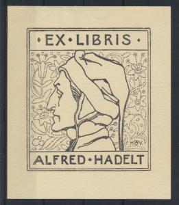 Ex Libris Künstler Heinrich Vogeler Alfred Hadelt Rie 122 Buchdruck Strichätzung