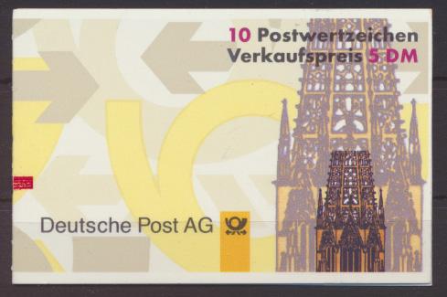 Bund Markenheftchen 34 I mZ mit Zählbalken Kat.-Wert 20,00 0