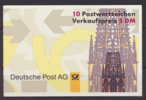 Bund Markenheftchen 34 I oZ Sehenswürdigkeiten Luxus postfrisch Kat.-Wert 12,00 0