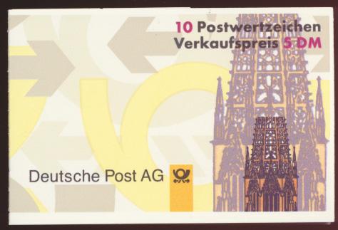 Bund Markenheftchen 34 IoZ Salto kleine Schrifttype Luxus postfrisch  0