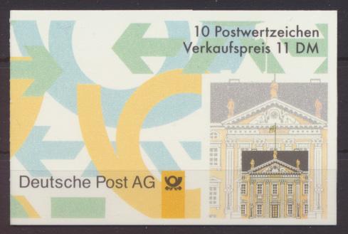 Bund Markenheftchen 35 I oZ Plattenfehler V. Luxus postfrisch MNH Kat.Wert 50,00 0