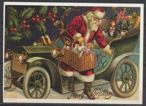 Ansichtskarte Weihnachten Weihnachtsmann Nikolaus Spielsachen Affe