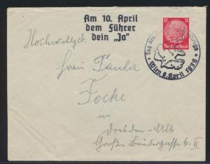 Deutsche Reich II. WK 3. Reich Propaganda mit SST Wien Österreich auf Hindenburg