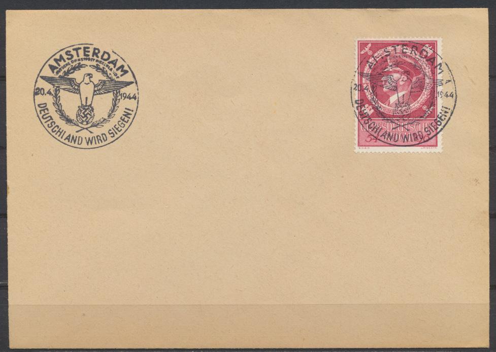 Deutsches Reich Brief 887 blanko mit Propaganda Stempel Amsterdam 0
