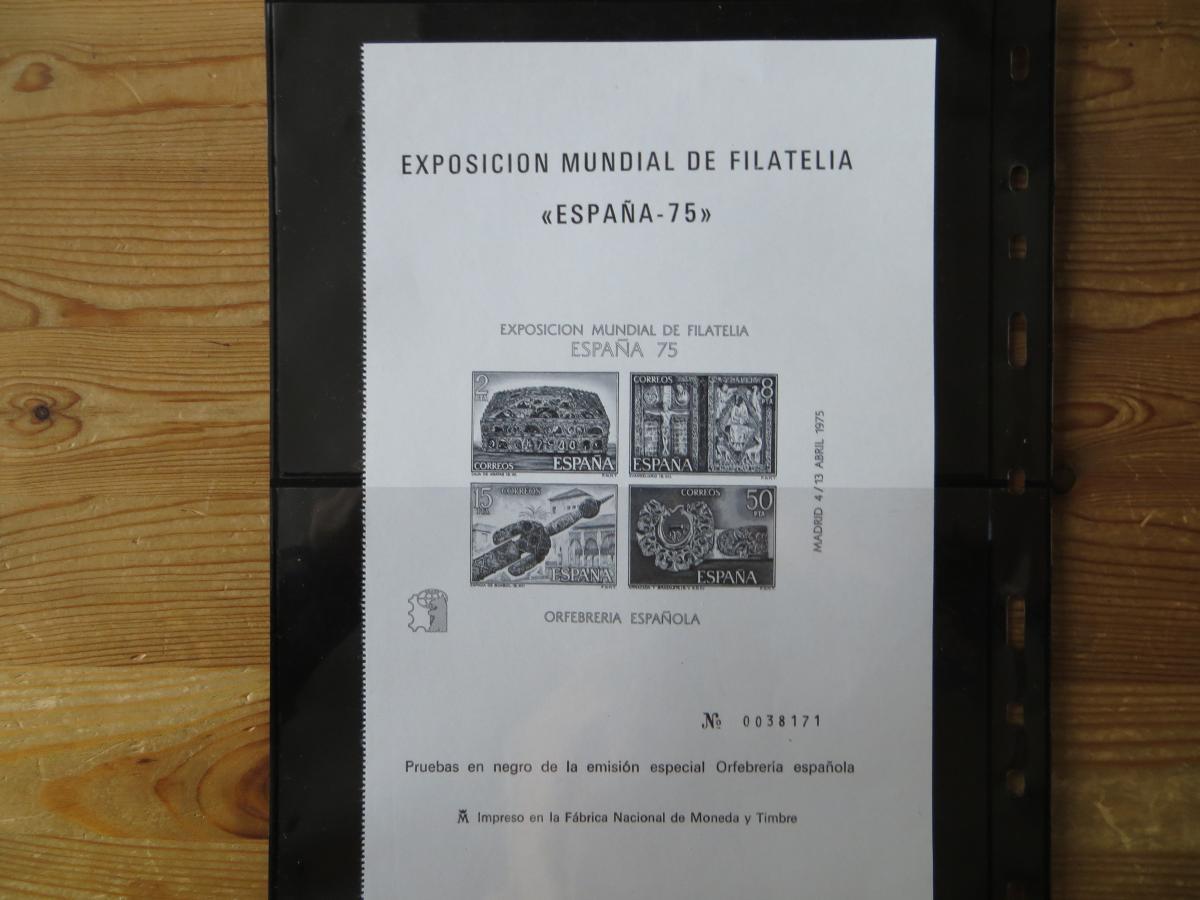 Spanien Block 19 + 20 + die Schwarzdrucke dazu + Kleinbogen 2330 Kat.-Wert 80,00 0