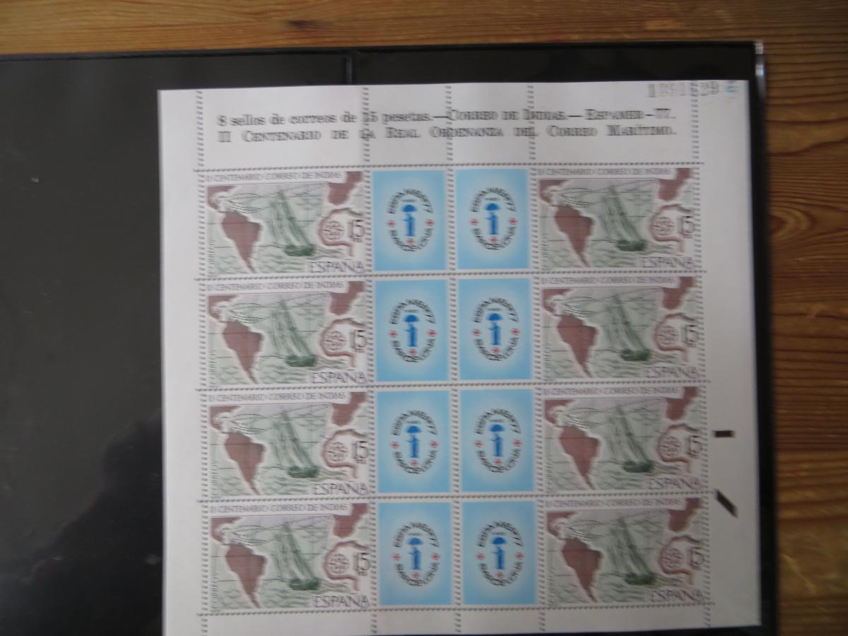 Spanien Block 19 + 20 + die Schwarzdrucke dazu + Kleinbogen 2330 Kat.-Wert 80,00 1