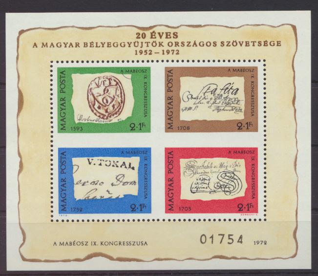 Ungarn Block 88 I der seltene Sonderblock Tag der Briefmarke IX Kongress Phila- 0