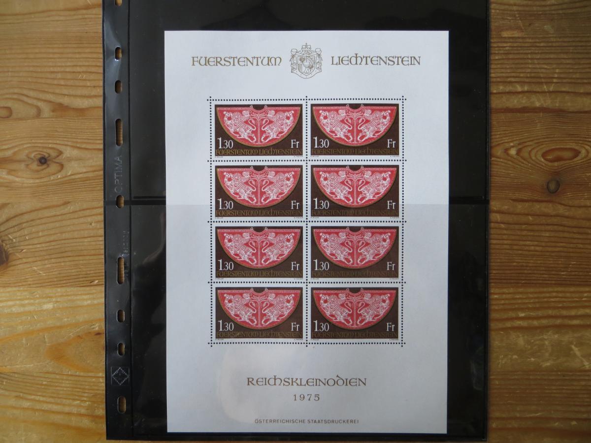 Liechtenstein 634 Krönungsmantel Kleinbogen postfrisch 1975 MNH Kat.-Wert 30,00 0