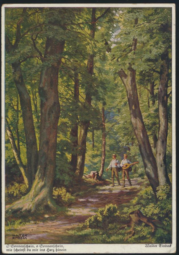 Ansichtskarte Künstler sign. Walter Einbeck München Soneberg n. Ilmenau 1935 0