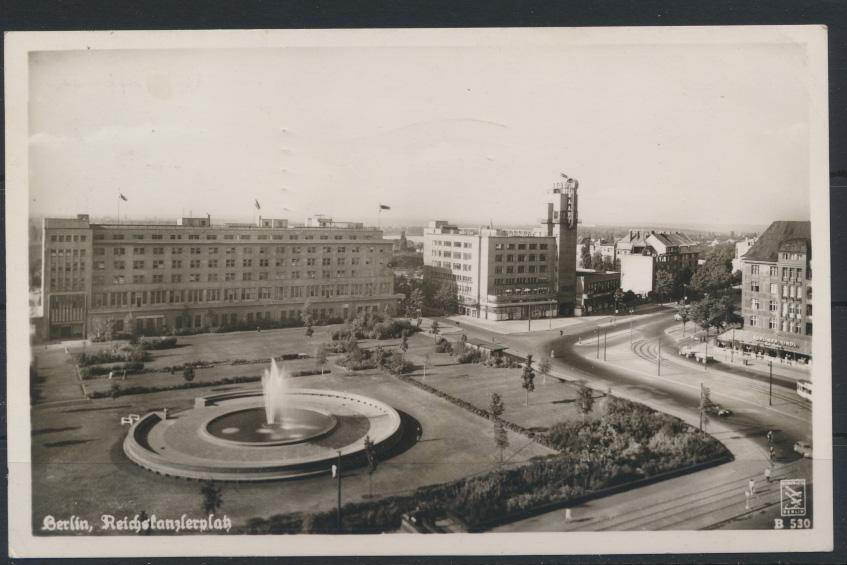 Ansichtskarte Berlin Reichskanzlerplatz EF 10 Pfg. Bauten nach Köln Dellbrück 0