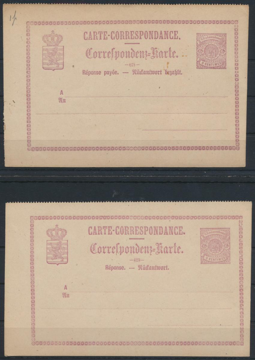 Luxemburg Ganzsache P 11 F + A Frage und Antwort ungelaufen postal stationery 0