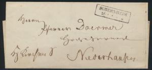 Preussen markenloser Brief mit R2 SOBERNHEIM 1853