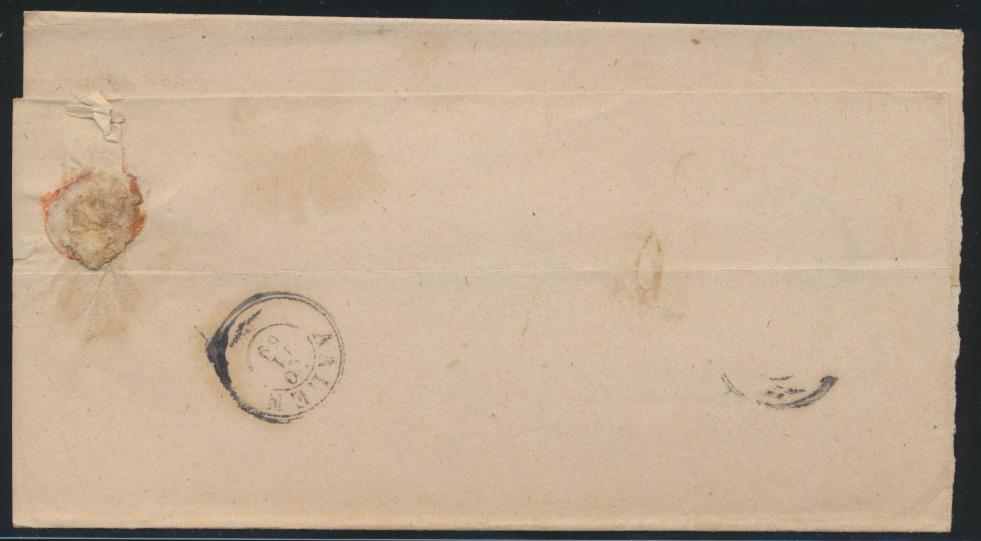 Altdeutschland Württemberg Wasseralfingen markenloser Brief K2 Aalen 1