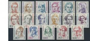 Berlin Frauen komplett 17 Werte Luxus postfrisch MNH Kat.-Wert 70,00