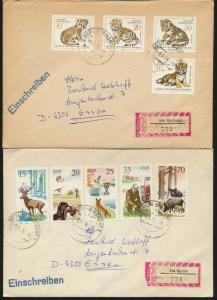 DDR 3 Briefe per Einschreiben mit Speerwerte u.a. Leipziger Zoo