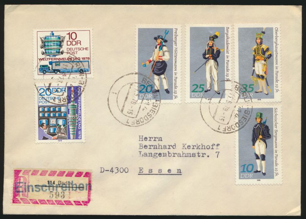 DDR 3 Briefe per Einschreiben mit Speerwerte u.a. Leipziger Zoo 1