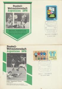 Argentinien 4 Briefe Fußball verschied Länderspiele Argentinia 4 Covers Fottball