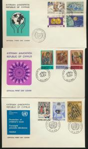 Zypern Lot von 8 Briefen Cyprus Lot of 8 Covers