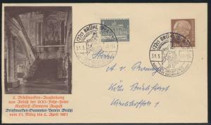 Bund Brief MIF Heuss + Brandenburger SST Brühl 200 Jahre Kurfürst+ Ausstellung