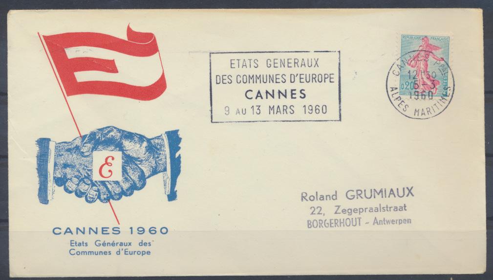 Frankreich Brief Cannes 1960 0