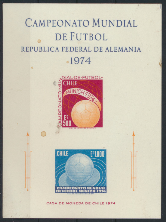 Sport Chile Sonderkarte Fußball München 1974  0