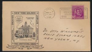 USA Brief Graeter New York Golden Jubilee Federal Hall Station