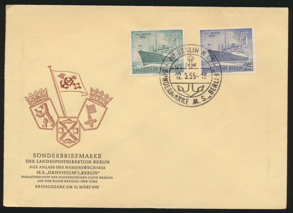 Berlin Brief FDC 1955 0