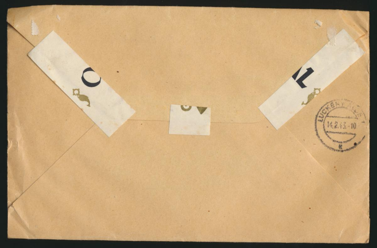 D. Reich Brief MIF per Einschreiben Nachnahme Füssen Radio Möst nach Luckenwalde 1