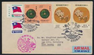 China Taiwan Taipei Brief in die DDR nach Perleberg