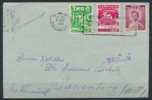 Thailand Bangkok Brief nach Sassenberg 8.3.1961 letter to Germany
