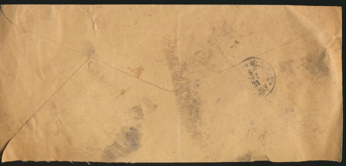 Belgish Belgisch Kongo Brief MEF 2 Fr. Aufdruck Stanleyville nach Heilbronn  1