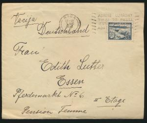 Lettland Brief Riga nach Essen 5.8.1939 Latvia cover to Essen Germany