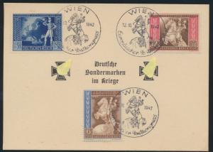 Deutsches Reich Österreich Sonderkarte Sondermarken im Kriege Stempel Wien FDC