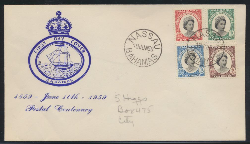 Schiffspost Bahamas Brief FDC Queen Elisabeth Nassau  0