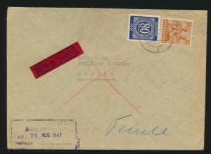 Alliierte Besetzung Gemeinschaft Eilboten Brief MIF 80 + 24 Pfg.