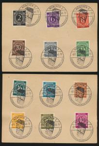 Besetzung Gemeinschaft ex 2-1 RM schöne SST Exportschau München 8.11.1946 auf