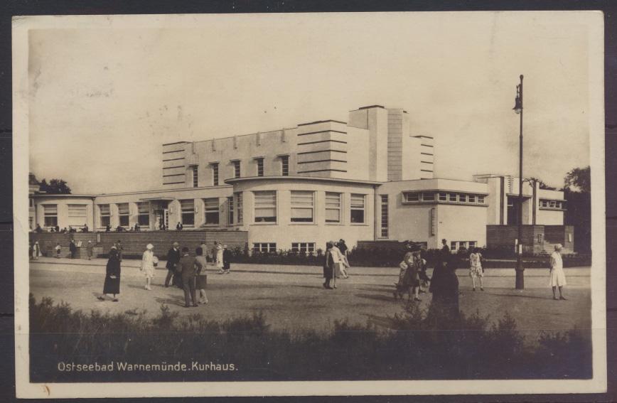 Ansichtskarte Warnemünde Mecklenburg Vorpommern nach Köln 7.8.1929 0