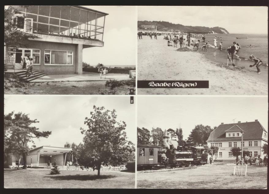 Ansichtskarte Baabe Rügen gelaufen nach Pulheim Simmersdorf 0