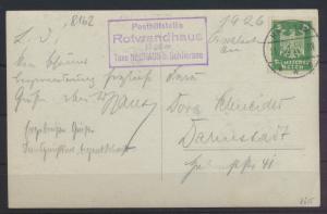 Ansichtskarte Posthilfsstelle Rotwandhaus Taxe Neuhaus b. Schliersee Darmstadt