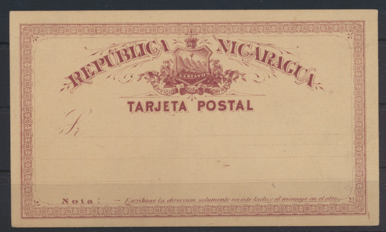 Übersee Nicaragua Ganzsache Nicaragua postal stationery 0