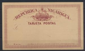 Übersee Nicaragua Ganzsache Nicaragua postal stationery