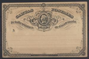 Guatemala Ganzsache mit privatem Zudruck postal stationery with private Print
