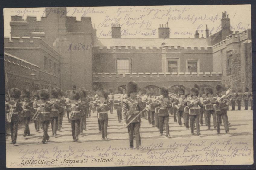 Ansichtskarte Grossbritannien London St. James's Parade nach Mäünchen 15.8.1915 0