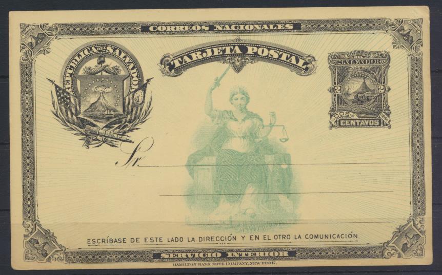 Übersee El Salvador Ganzsache postal stationery 0